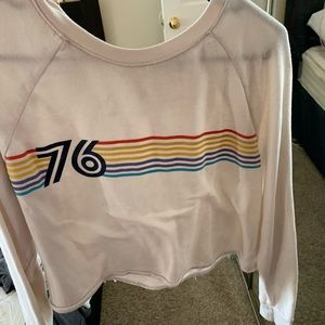 Colorful striped loved sleeve